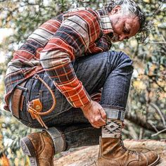 Workwear Fashion, Denim Fashion, Boy Fashion, Cute Flannel Outfits, Estilo Cool, Style Outfits, Rugged Style, Fashion Books, Mens Clothing Styles