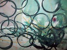 Cirkelmålningar inspirerade av Kadinsky