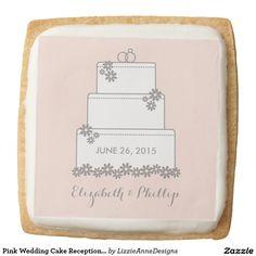 Pink Wedding Cake Reception Cookies