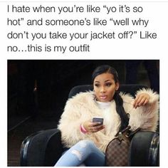 Been seeing this meme all over the place lmaoooo... I have this convo wit myself tho  tryna figure out if I should take it off or not