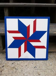 Pinwheel Star of Maine Barn Quilt Makes a great gift. Perfect on a garden shed or hang it inside. Anywhere Indoor or Outdoor Edges are sealed, 2 coats of primer. hand painted with acrylic paint. Hardware for mounting is not included. Size Approximately Barn Quilt Designs, Barn Quilt Patterns, Wood Patterns, Quilting Designs, Mosaic Patterns, Pattern Ideas, Quilting Patterns, Star Quilts, Quilt Blocks