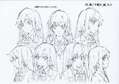 unkoer Character Model Sheet, Character Poses, Female Character Design, Character Modeling, Character Design References, Character Drawing, Moe Manga, Manga Anime, Cool Sketches