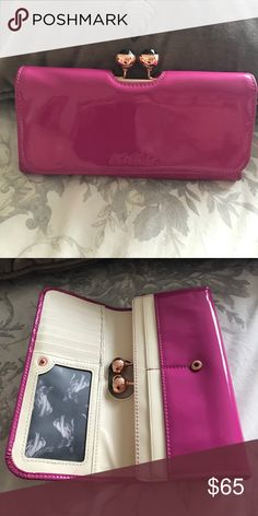 86f04fa0cb6d46 Ted Baker Wallet Great condition! Hot pink with rose gold hardware. Ted  Baker Bags