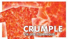 Crumple Tie-Dye Technique #tiedye #craft