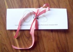 The wedding program with a built-in pocket for confetti (or favours!)