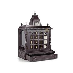 24 Quot Vc Wd Wooden Temple Pooja Mandir For Home With Doors