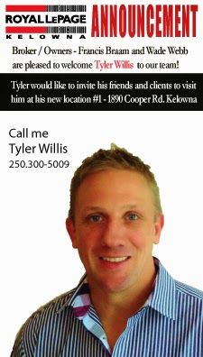 Royal LePage Kelowna: Welcome to the team Tyler