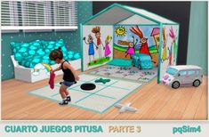 Sims 4 CC's - The Best: Toddler Playroom by pqSim4