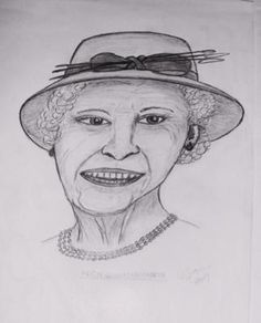 Her Majesty - The Queen: This is a sketch done form memory of her majesty the Queen of the UK in pencil using a hb pencil