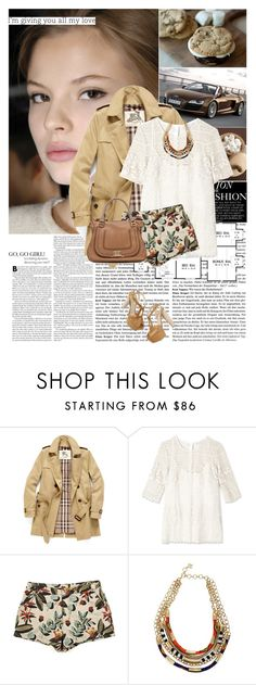 """""""time for tag~!"""" by hug-voldemort ❤ liked on Polyvore featuring Magdalena, Prada, Burberry, Paul & Joe Sister, Paul Smith, BCBGMAXAZRIA, Chloé, ankle tie sandals, bib necklaces and lace"""
