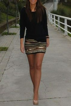 A great date night outfit! this is cute!