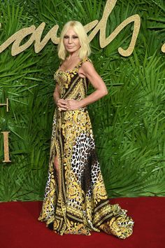 Donatella Versace at The Fashion Awards