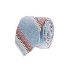 J. Crew Slub-stripe tie - Great looking slub cotton tie.