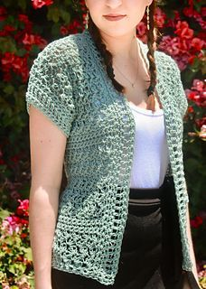 This pattern is for the Harper Cardigan. It is worked up with a DK weight yarn and a hook making the texture of the Suzette Stitch very lacy and airy. Perfect for summer! Crochet Bolero Pattern, Gilet Crochet, Crochet Coat, Crochet Shirt, Crochet Jacket, Crochet Clothes, Crochet Sweaters, Crochet Shrugs, Crochet Shawls And Wraps