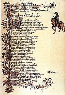 Ellesmere Chaucer- A knight's tale illumination