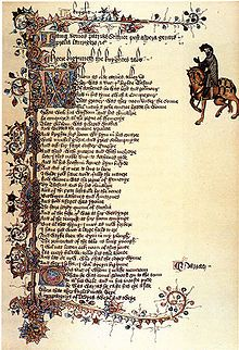 The Ellesmere illuminated manuscript of the Canterbury Tales by Geoffrey Chaucer, early 15th-century,