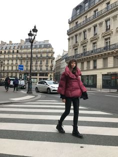 Feather light cherry colour goose down jacket, water repellant. Fashion Brand, Cherry, Feather, Winter Jackets, Street Style, Colour, Coat, Women, Winter Coats