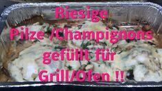 Gefüllte Champignons für auf den Grill oder im Backofen . Diese sind aus eigener Ernte aus meinem Gemüse Garten. Verlinkung zum Anbau der Champignons sowie zur Ernte sind im Video. Meine homepage/ Blog : http://www.garteneinkochfee.com/