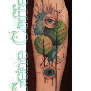 Gene Coffey Tattoo Culture Brooklyn - Ivy Leaves | tattrx