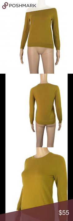 ✳️CCO✳️NWOT J. Crew 100% cashmere sweater NWOT - never worn - 10/10 condition J. Crew 100% Italian cashmere mustard / greenish sweater. I don't recall the exact name of this color all I remember was splurging on it. I paid $188 before tax (so $200) I'm including the style # so you can price check it yourself. No longer sold in stores and this color is impossible to find online. Size small - will best fit sizes XS-S. Stretchy material. Not itchy or scratchy. Mannequin measurements:  height…