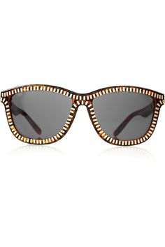 Gold Zip Tortoise D-frame Sunglasses by Alexander Wang #Sunglasses #Alexander_Wang
