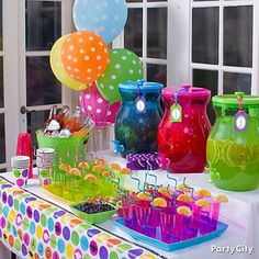 13 Colorful High School Graduation Party Ideas - How fun would this and/or a candy table be?