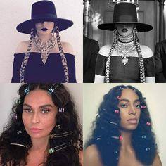 """Arrasou, amei. @mstinalawson 😍😍 @beyonce @saintrecords ♥♥♥ #beyoncé #tinaknowles #solange #beyonce #bey #queen  #repost @hugogloss  A Tina Knowles resolveu homenagear as filhas Beyoncé e Solange, reproduzindo uma das cenas de """"Formation"""" e a capa do novo álbum da Sol... Maravilhosa, né?!"""