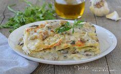 LASAGNE CREMOSE ALLE MELANZANE ricetta primo piatto, morbide, profumate e dal sapore delicato, una ricetta per lasagne facile e gustosa