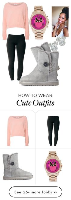 """Fall outfit 1"" by fashionlover3468593020458 on Polyvore featuring Glamorous, Joe Browns, UGG Australia and Disney"
