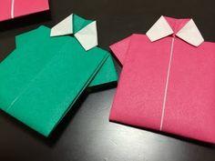 おりがみ=Tシャツ(しゃつ)=おってみた! Japanese Traditional Origami T-Shirt - YouTube
