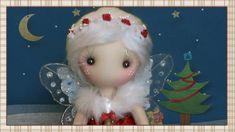 Presentación del Hada de la Navidad Christmas fairy by Pepitas de choclate Doll Head, Doll Face, Video Mc, Diy Doll, Doll Patterns, Beautiful Dolls, Elves, Doll Clothes, Techno