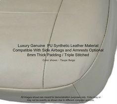 New 4pc BEIGE Premium PU Leatherette Semi Custom Bucket Seat Covers Set BG4