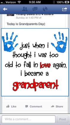 To be a grandparent