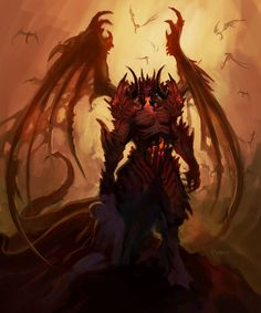View an image titled 'Diablo Concept Art' in our Diablo III art gallery featuring official character designs, concept art, and promo pictures. Fantasy Kunst, Dark Fantasy Art, Fantasy Artwork, Demon Artwork, Fantasy Creatures, Mythical Creatures, Arte Obscura, Ange Demon, Illustration