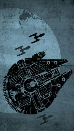 Star Wars Posters Set of 3 Posters - Star Wars Poster - Ideas of Star Wars Poster - - Millenium Falcon Star Wars Star Wars Fan Art, Star Wars Love, Star War 3, Death Star, Star Wars Poster, Millennium Falcon, Geeks, Decoracion Star Wars, Illustration Inspiration