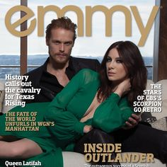 Could @samheughan and @caitrionabalfe be any more gorgeous? See their sizzling photo shoot for Emmy Magazine on stands May 12! #Outlander #STARZ #Emmys