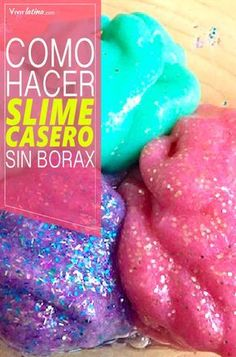 hacer: to make Diy For Kids, Crafts For Kids, 4 Kids, Children, Party Deco, Diy Slime, Ideas Para Fiestas, Activities For Kids, Diy And Crafts