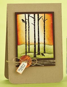 handmade card: Autumnal Thinking of You Card by Julie Day  ... absolutely gorgeous coloring of the  main image!!!