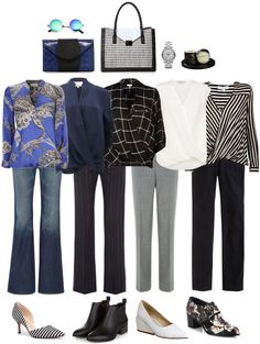 Ensemble: Flares, Drape Front Tops & Pointy Toes