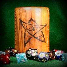Your place to buy and sell all things handmade Nerd Stuff, Cool Stuff, Wooden Dice, Eldritch Horror, Cupped Hands, Pencil Cup, Gaming Accessories, Cthulhu, Custom Items