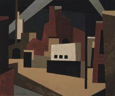 Niles Spencer (American, 1893-1952),Wake of the Hurricane, 1951. Oil on canvas. Walker Art Center, Minneapolis.