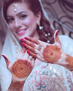 Absolute Beauty 👍 Soft Mehndi & Dress Color 😍💗 Bride on her Nikah 💕💕 Captured By :