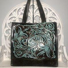 Patricia Nash Toscano Tote Tooled Turquoise Leather $229 887986129884 | eBay Patricia Nash, Turquoise Color, Leather Tooling, Tote Handbags, Tote Bag, Ebay, Crocheted Purses, Bags, Totes