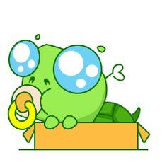 24 Cute funny turtle, facial expression chat emoji gifs Emoticons