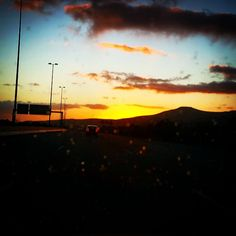 #driving #home through the #rain #watching a #beautiful #sunset #life is #bliss