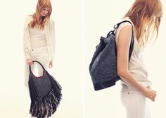 textured backpack!
