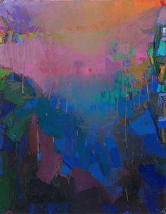 Brian Rutenberg - Bright, 2014, oil on linen, 58 x 46 inches