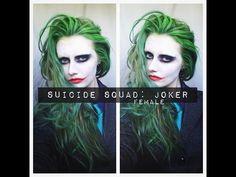 SUICIDE SQUAD: JOKER MAKEUP & HAIR (female) - YouTube