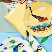 Teller Birdy 19cm 4er Set