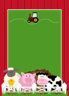 Free Printable Farm Party Invitations, Labels or Cards. Party Animals, Farm Animal Party, Farm Animal Birthday, Barnyard Party, Farm Birthday, 2nd Birthday Parties, Party Kit, Farm Party Invitations, Farm Theme